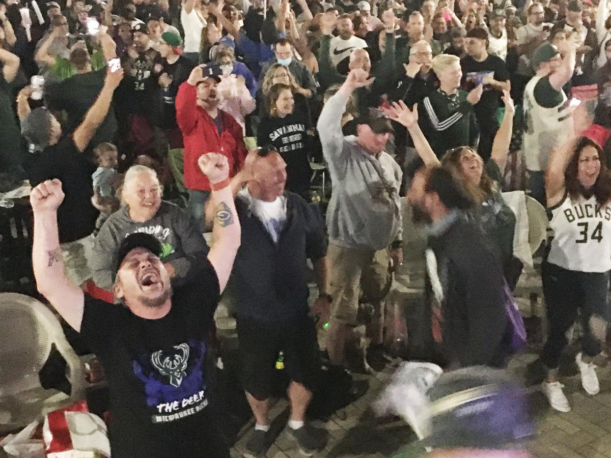 Fans celebrate Bucks championship with explosion of excitement in Racine