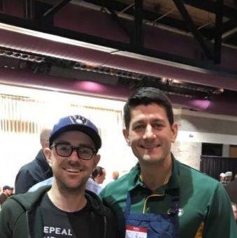 Paul Ryan Pancake Day photobomb