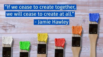 Collaborative creating graphic