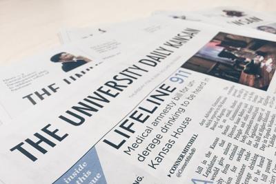 University Daily Kansan paper (copy)