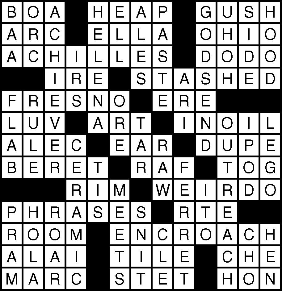 October 19 Crossword