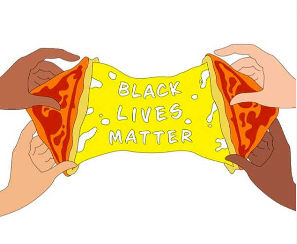 grilled cheese for BLM graphic