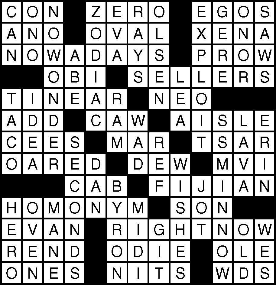 February 8 Crossword