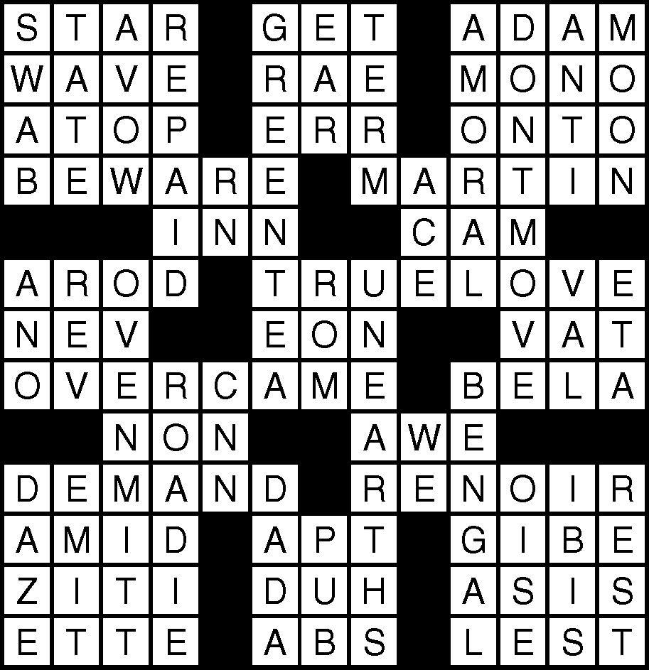 September 28 Crossword