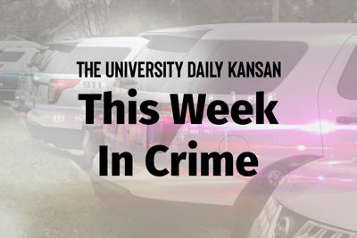"A graphic features the words ""This Week in Crime"" over the image of a flashing police car"