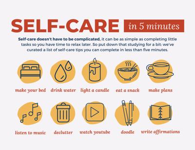 20 Midterm Self-care tips