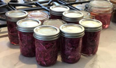 All pickled food fermenting