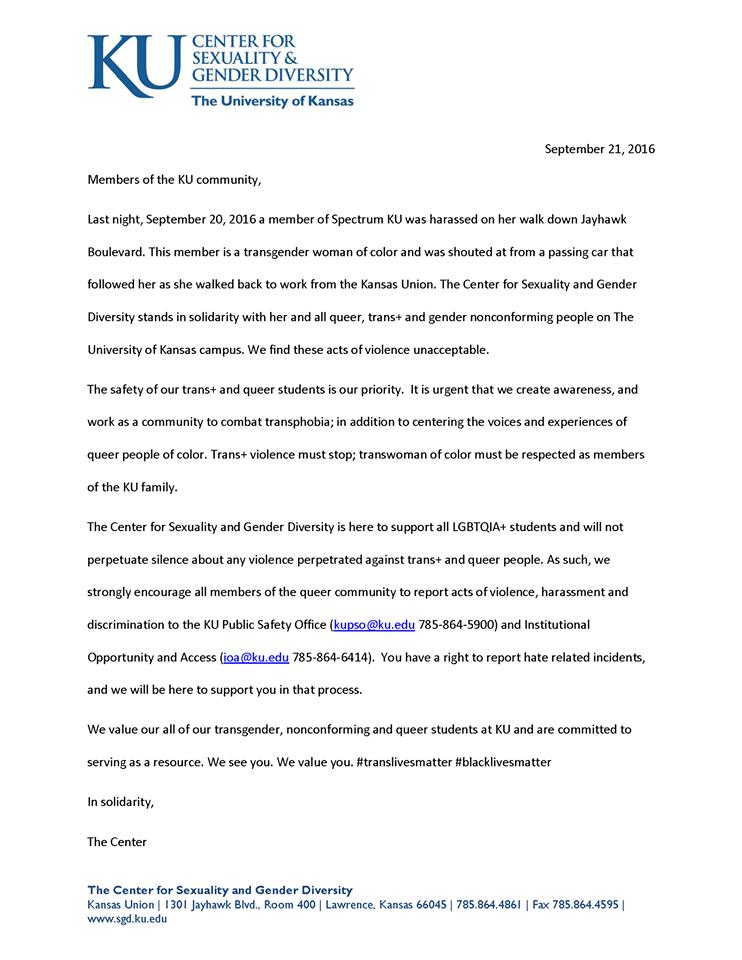 diversity response statement