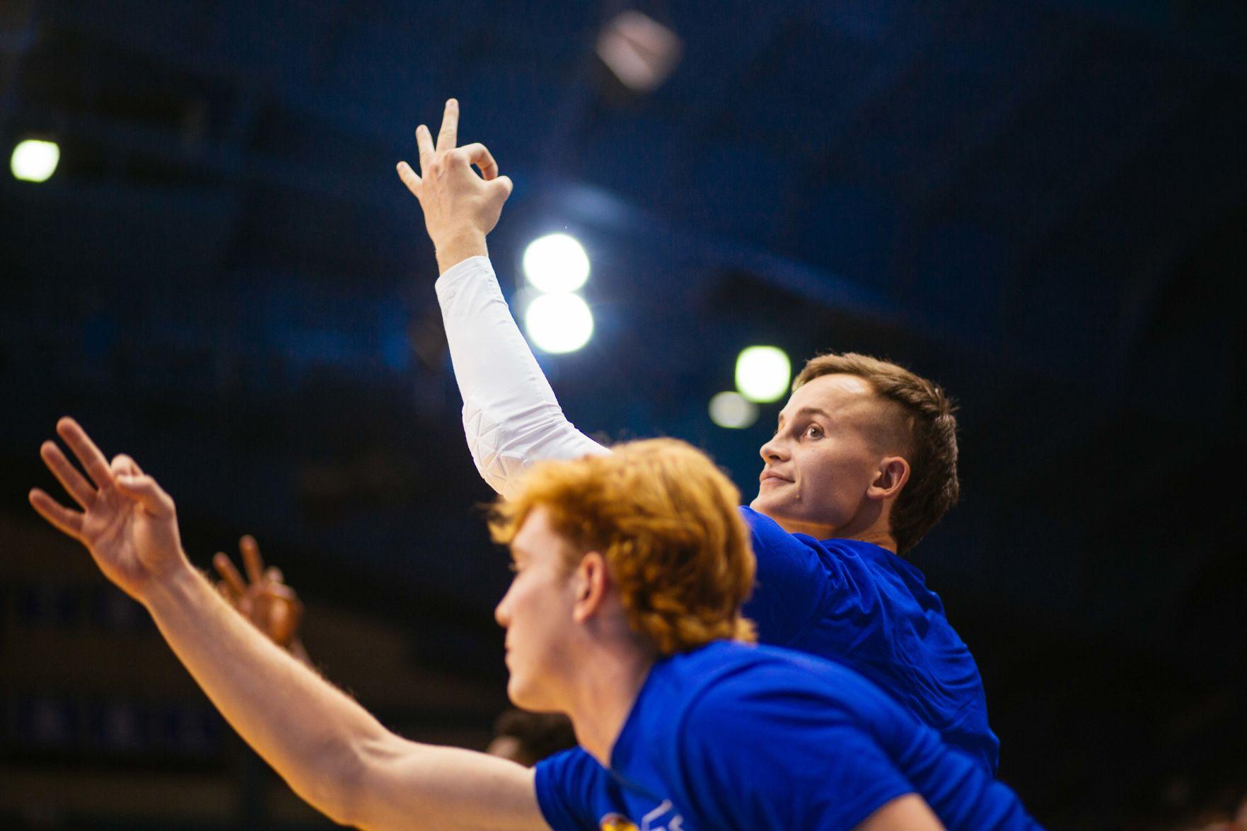 Chris Teahan Kansas Jayhawks Basketball Jersey-Blue