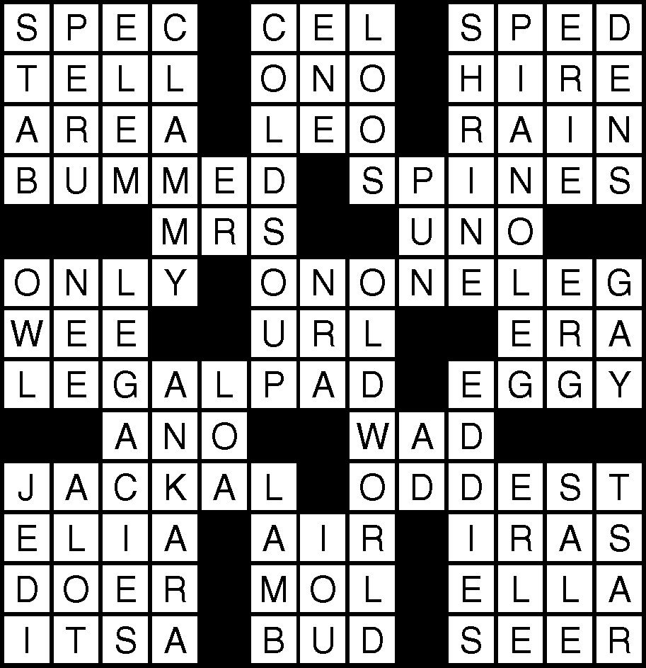 August 31 Crossword 1