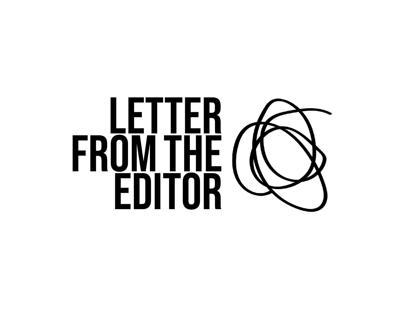 CHALK letter from the editor