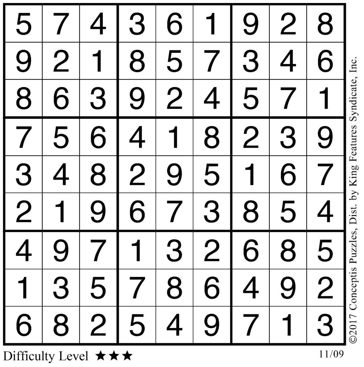November 9 Sudoku 2
