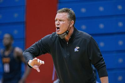 Kansas men's basketball coach Bill Self