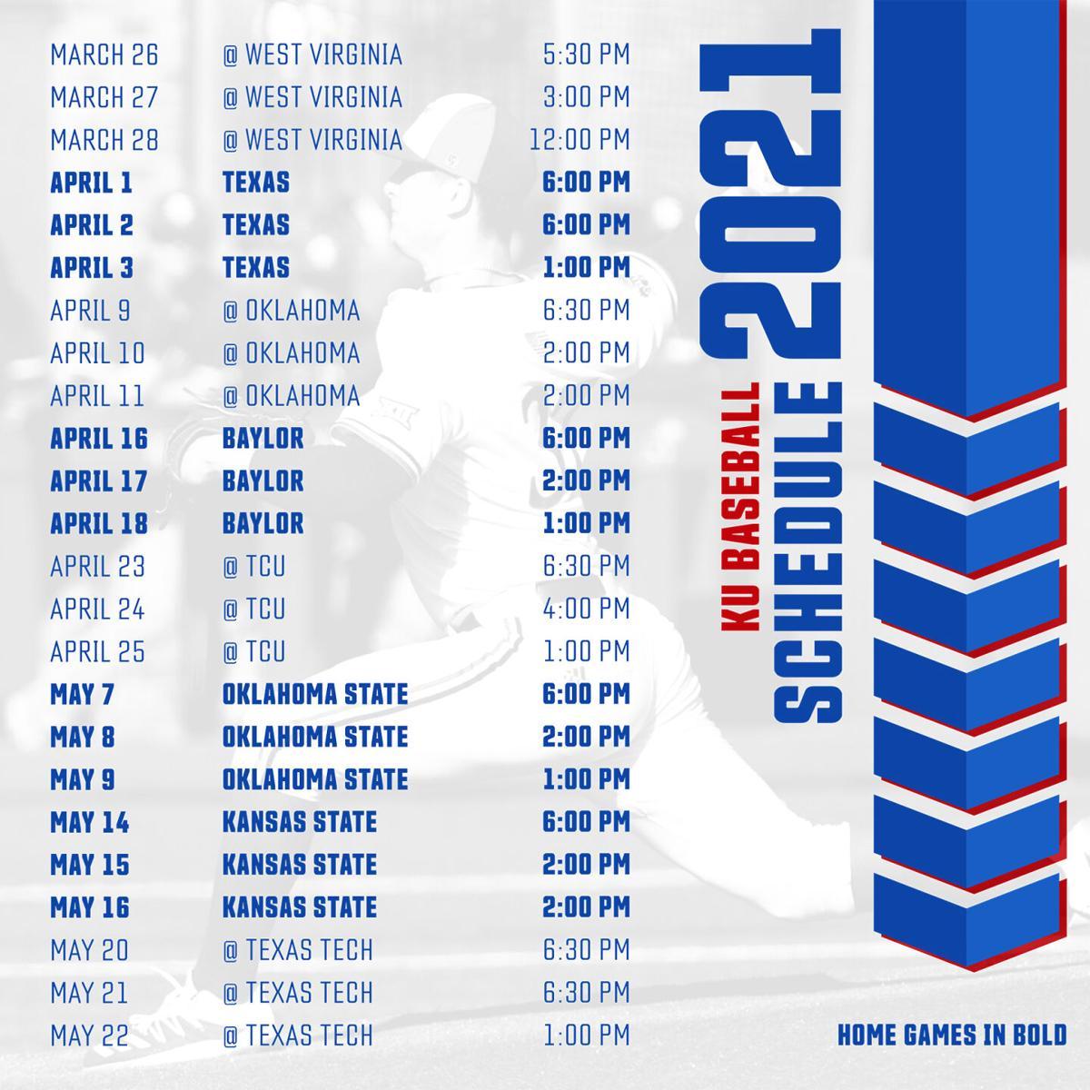2021 Big 12 Baseball Schedule