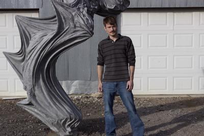 Local ceramics sculptor Jacob Burmood draws from his