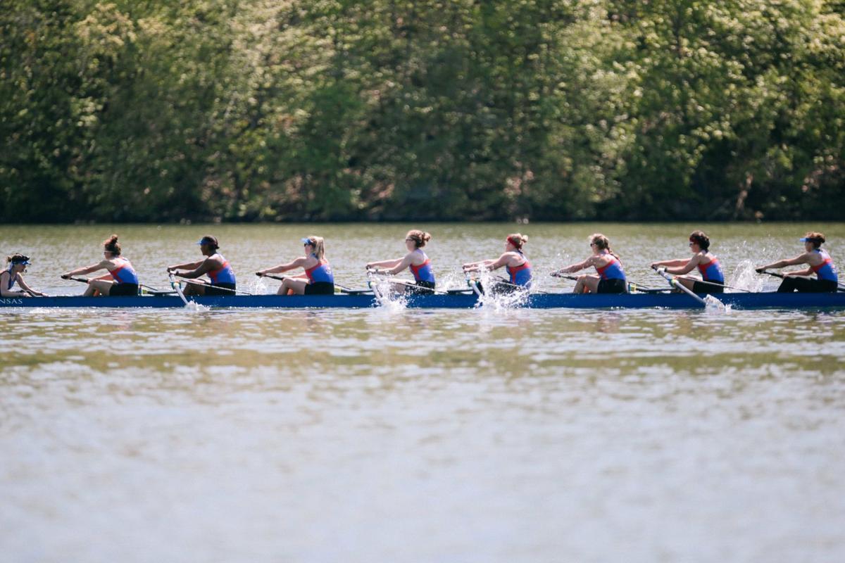 Kansas rowing at the Verdigris River