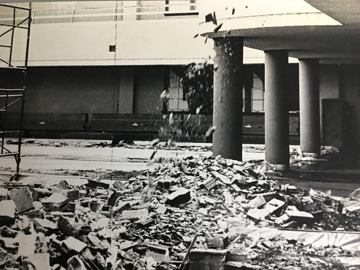 1970 Union fire damage at KU