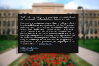 bichelmeyer writes to KU students