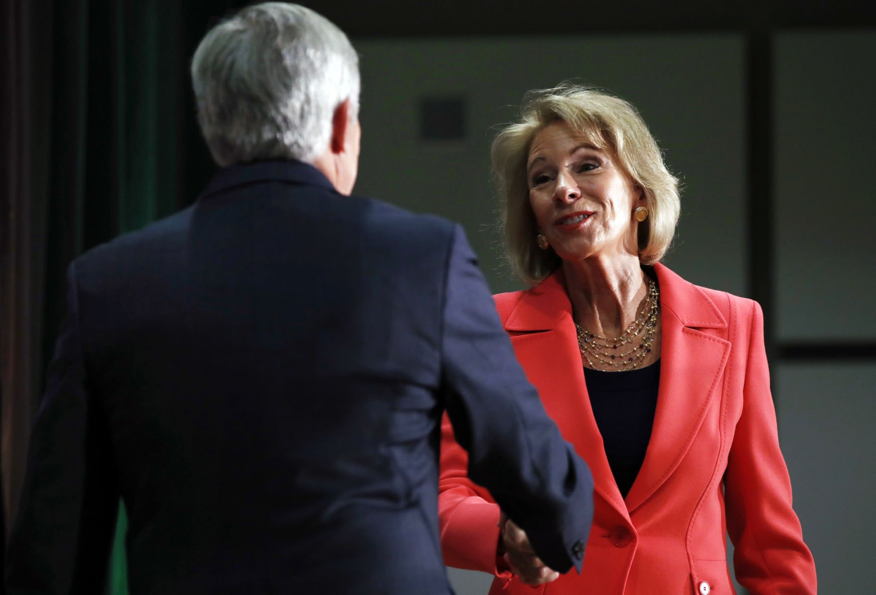 Education Secretary DeVos hopes schools 're-examine what they're doing'