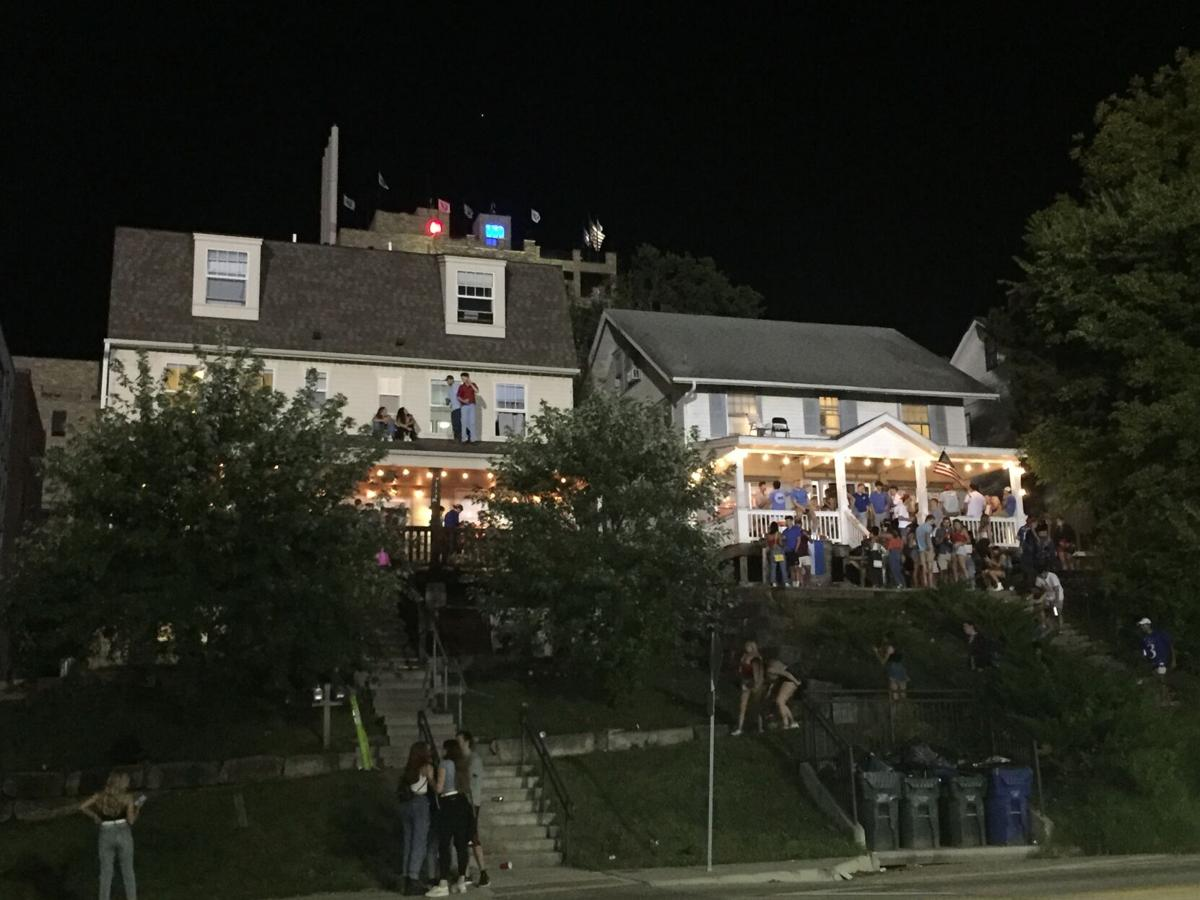 Dozens gather at two houses off of Mississippi Street for a party