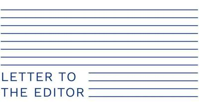 Horizontal lines fill the page except for the bottom left corner, which reads, 'Letter to the Editor'
