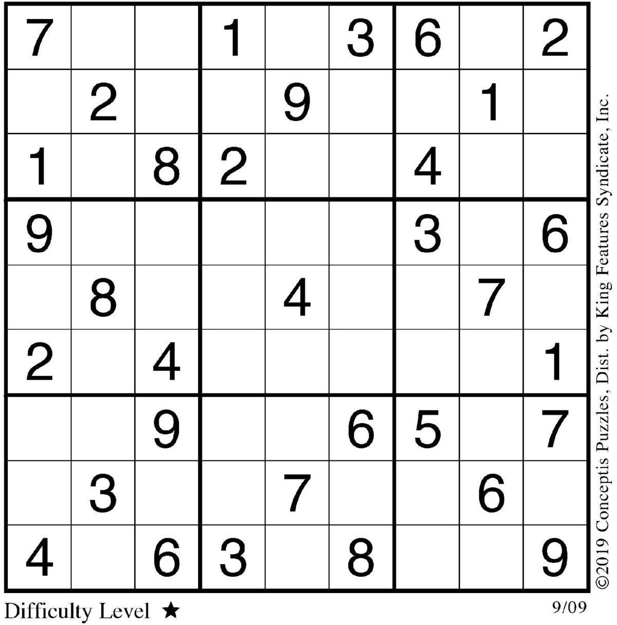 Sudoku Sept. 9