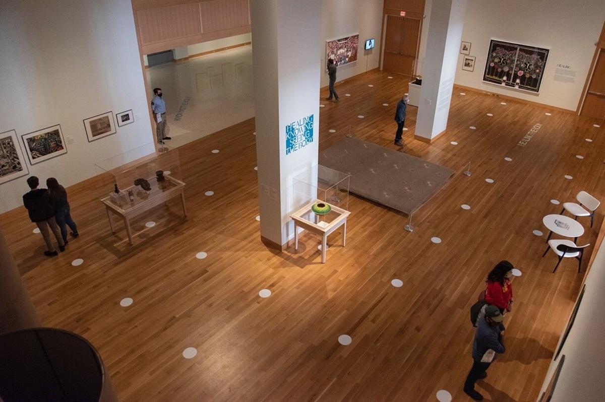 Looking over Spencer Art Museum