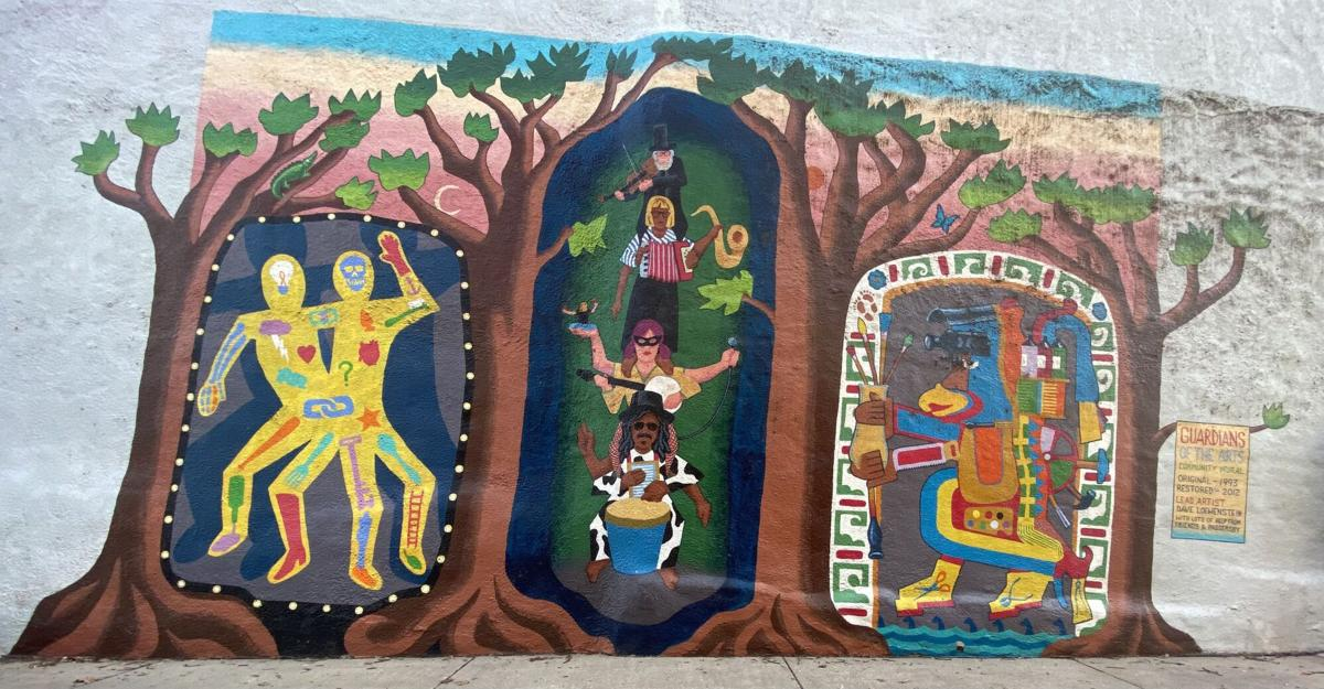 """""""Guardians of the Arts"""" mural"""