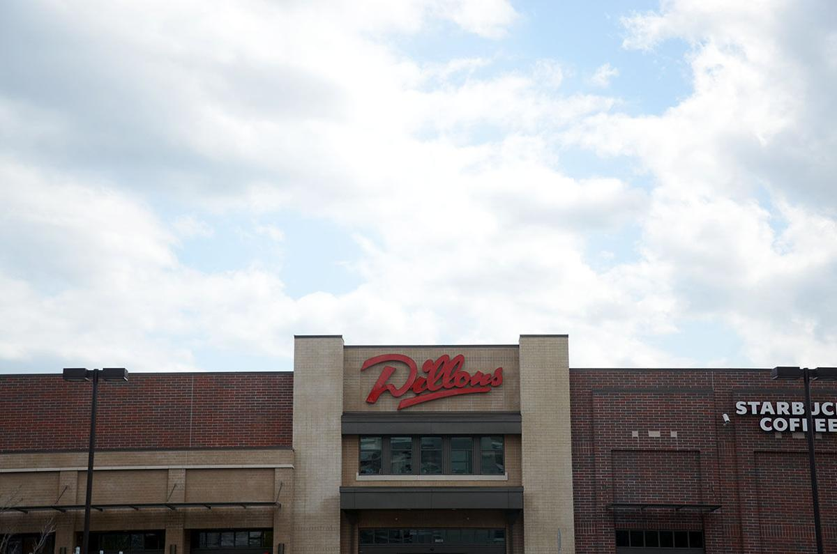 Clouds hover over the entrance to Dillons on Massachusetts Street