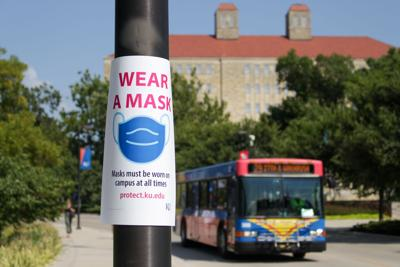 Wear a Mask sign outside Fraser Hall (copy)