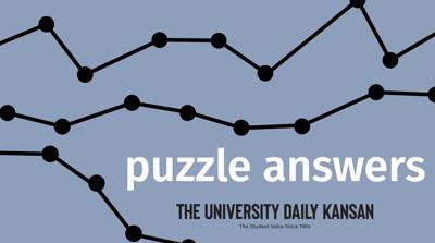 "A graphic features the words ""puzzle answers"" over a solid background"