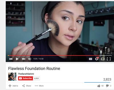 a7dbc5dd0a KU freshman finds her niche and financial success through YouTube beauty  tutorials