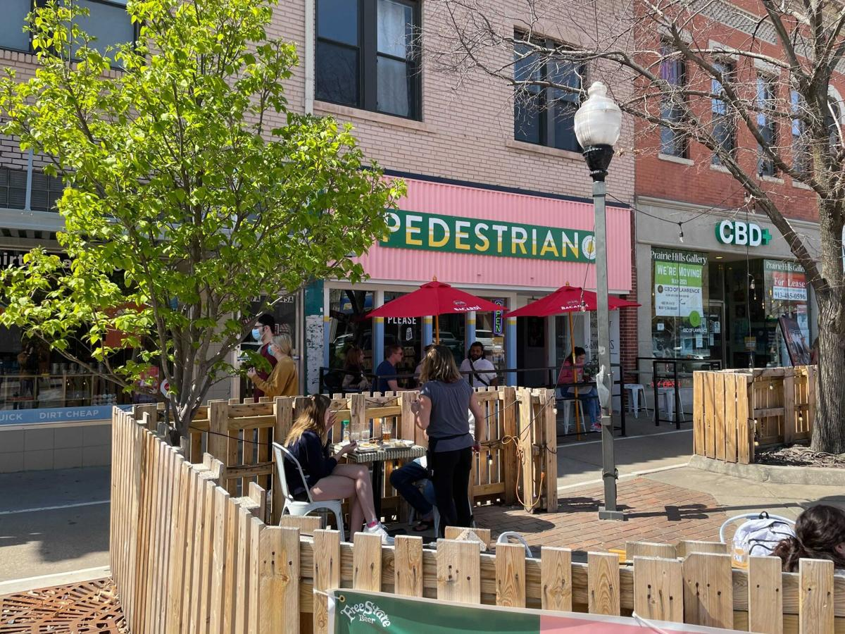 outdoor patio @ pedestrian