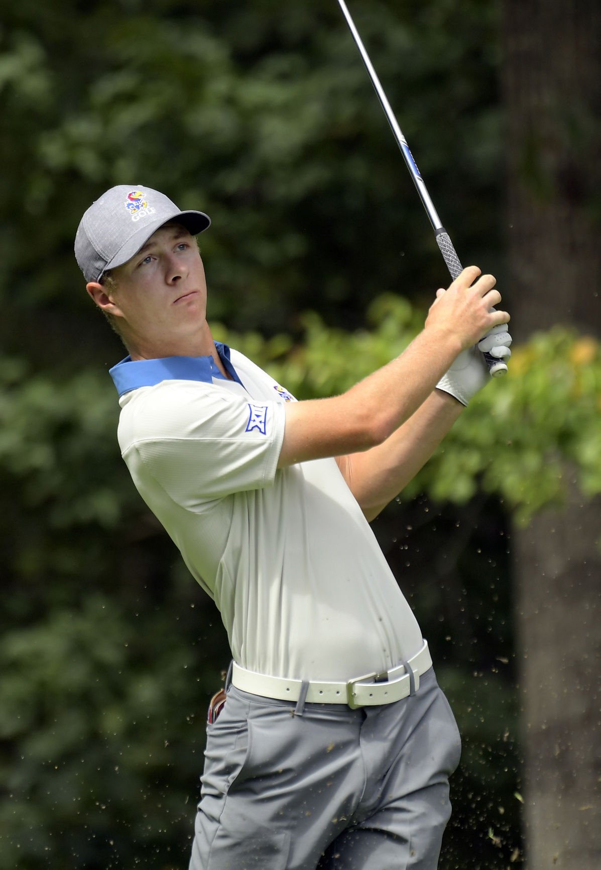 Harry Hillier finishes through on his swing