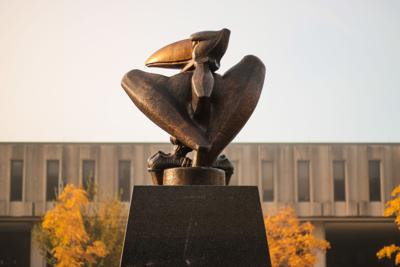 Jayhawk Statue