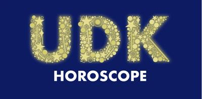"""A graphic reads """"UDK Horoscope"""""""