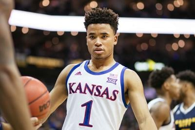 Sophomore guard Devon Dotson watches the basketball as it's in the hands of Kansas City
