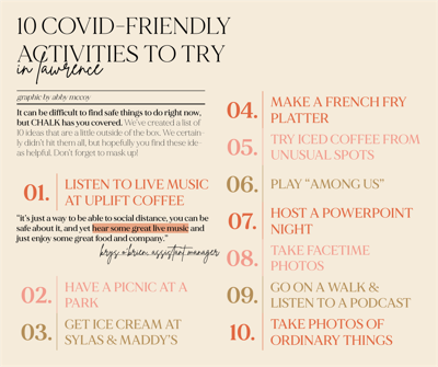10 Covid-safe activities [updated]
