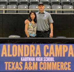 Kaufman graduate signs  college scholarship with  Texas A&M-Commerce