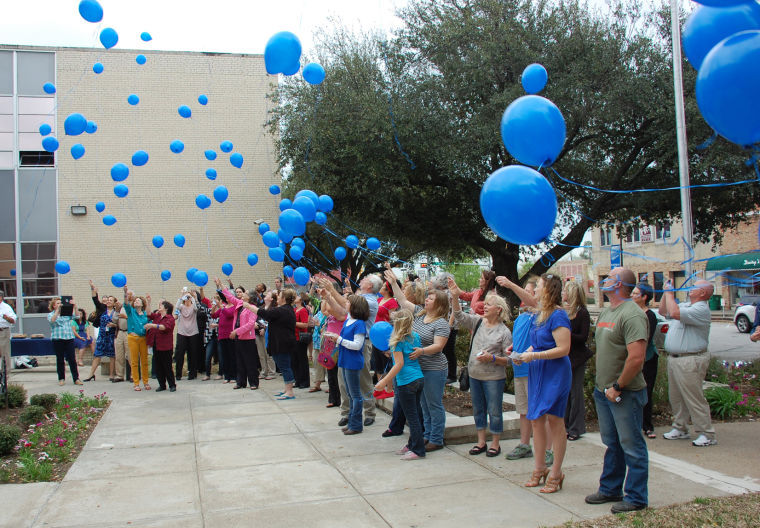 Child Abuse Prevention and Awareness balloon release