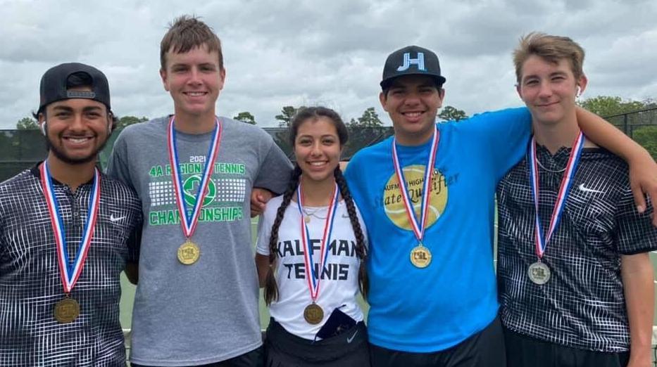 KHS tennis regional medals