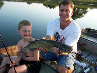 Luke's grandson fishing