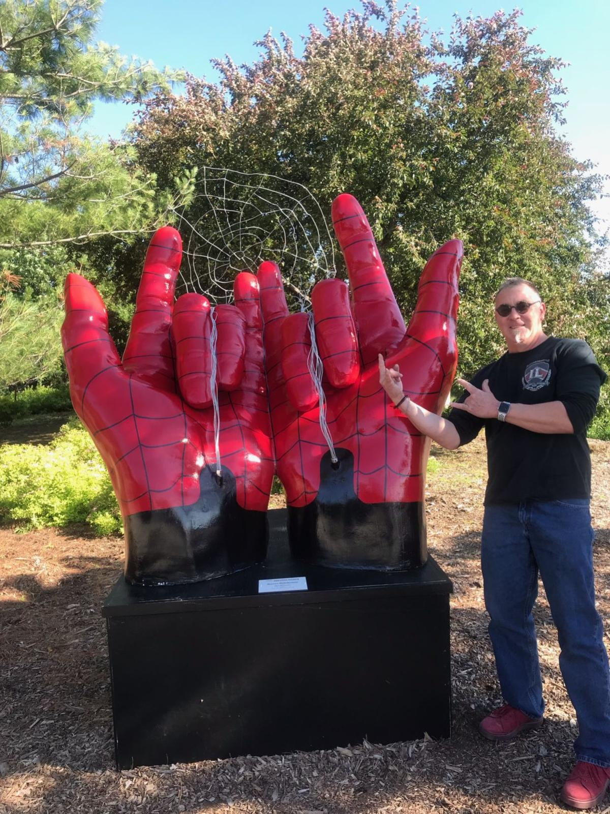 Spiderman hands were inspired by artist's favorite superhero