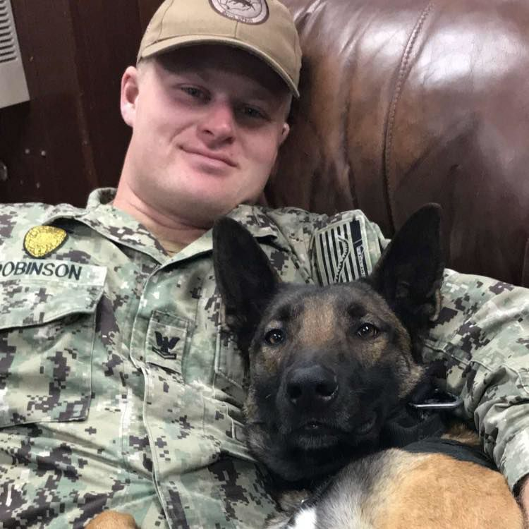 Veteran and his dog