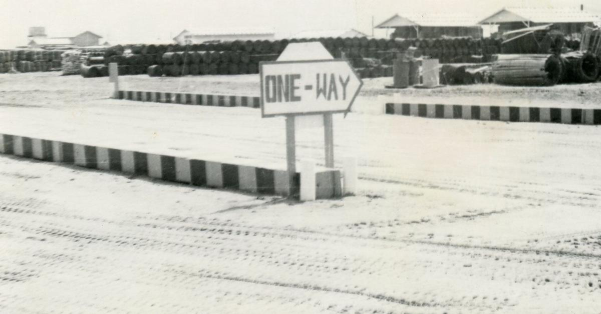 U.S. Army base supply camp