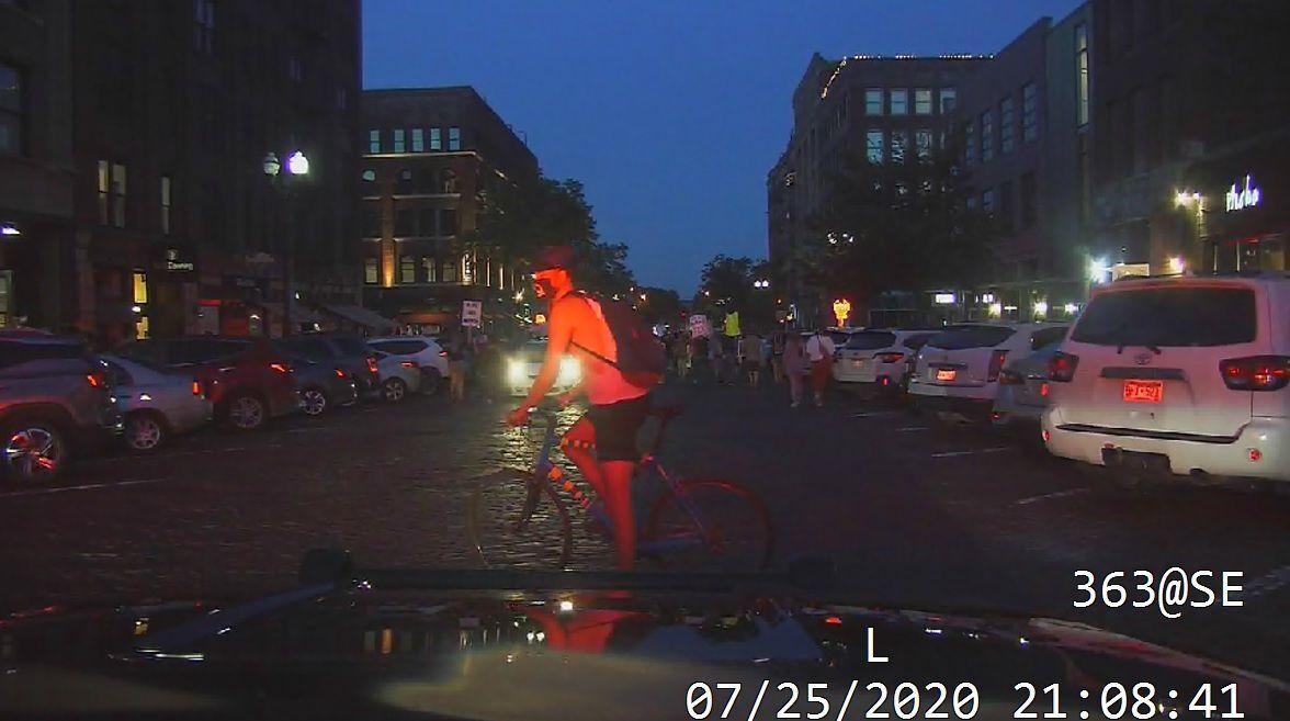July 25--Bicyclist Intentionally Blocks Cruiser