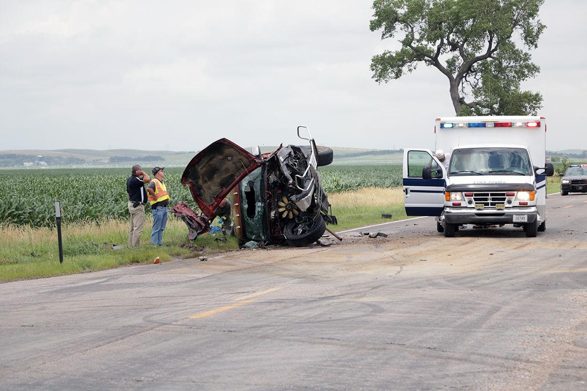 Ambulance loads driver