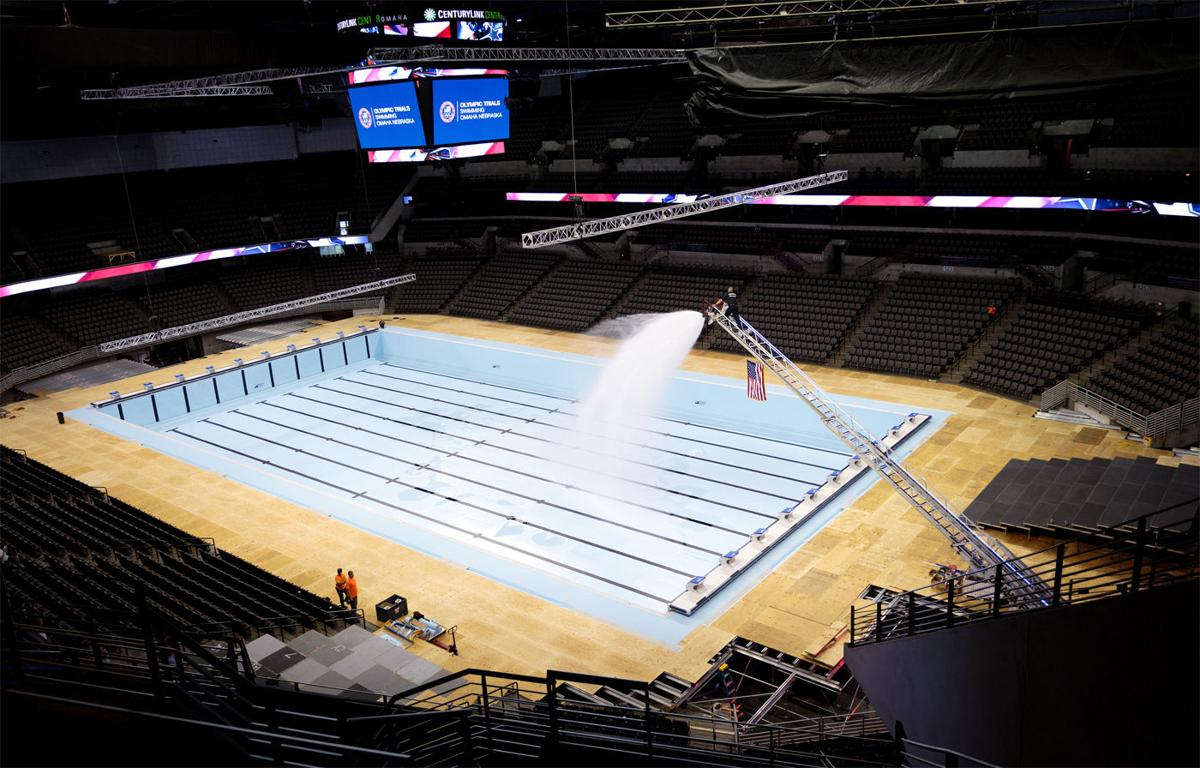 Omaha Firefighters Lend A Hand And A Hose Ahead Of The U S Swim Trials State