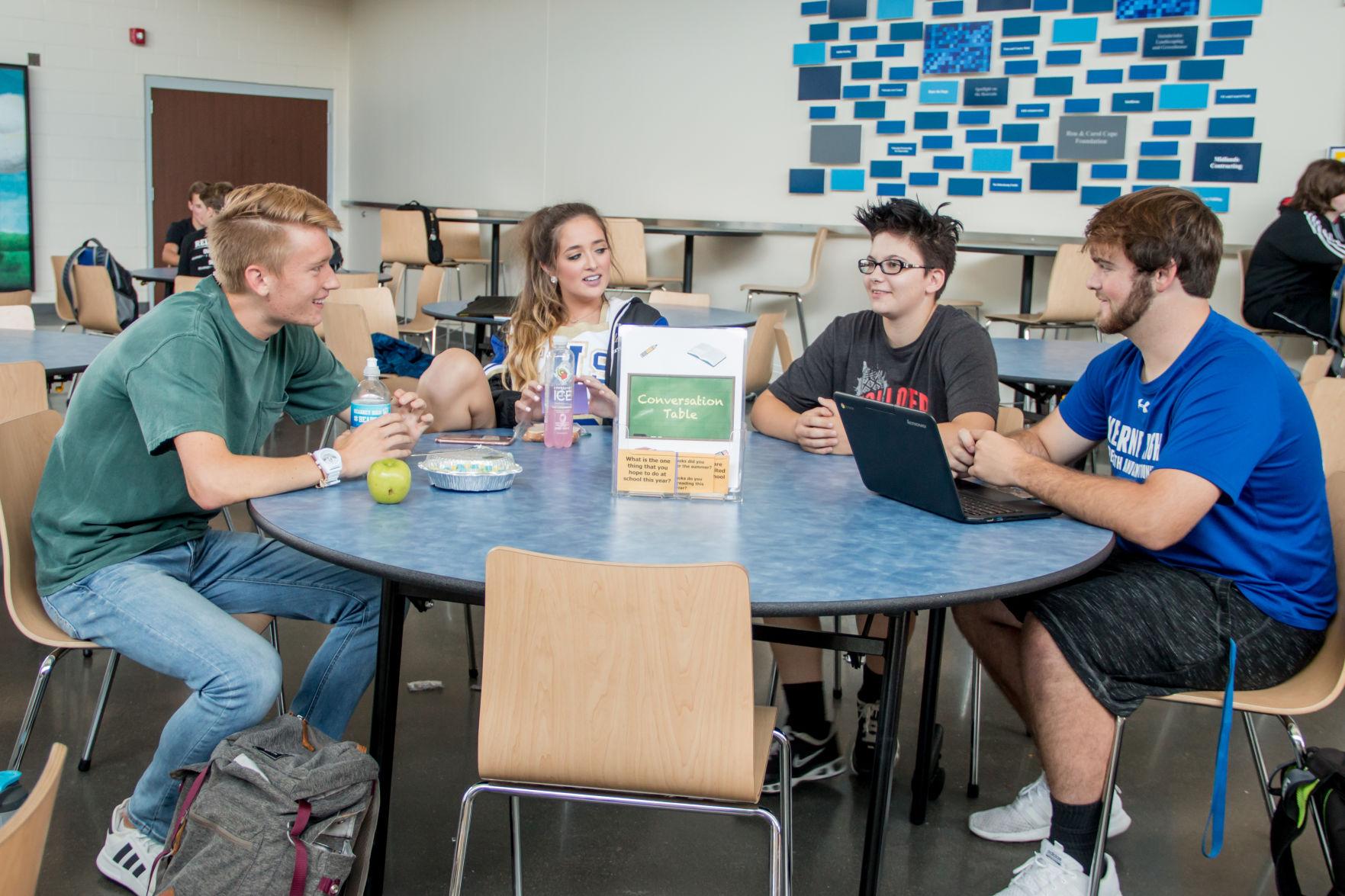 KHS Conversation Table Cafeteria
