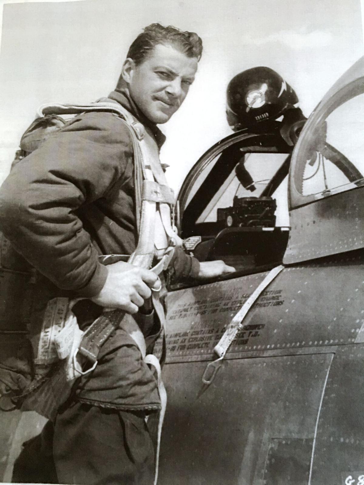 Fighter pilot Robert H. Laier